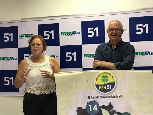 Luiza Souza, Presidente Estadual PEN Patriota 51 RJ Mulher e Walney Rocha, Presidente Estadual PEN Patriotas 51 RJ,