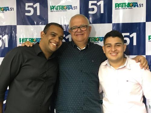 Thiago Rocha, Vice presidente Estadual PEN Patriota 51 RJ Jovem  Walney Rocha, Presidente Estadual PEN  Patriotas 51 RJ e Matheus Rocha, Presidente Estadual jovem