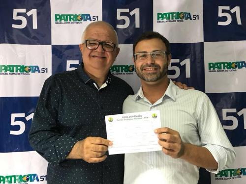 wr e Marcelo Chagas, Presidente Municipal PEN Patriota 51 Itatiaia.