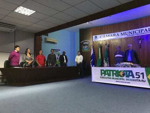 Presidente Municipal Patriota 51 Mesquita, Cleber Louzada e o Presidente Estadual Patriota 51 RJ, Deputado Federal Walney Rocha.